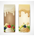 Chocolate banners vertical vector