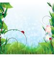 Sunny summer landscape vector