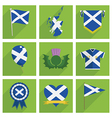 Scotland icons vector