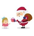 Santa claus and girl vector