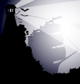 Dark landscape vector
