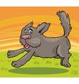 Running shaggy dog cartoon vector