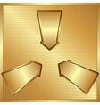 Three arrows vector
