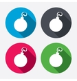 Christmas ball sign icon holidays button vector