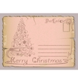 Vintage postcard with christmas and new years vector