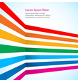 Rainbow stripes on light background vector