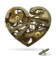 Clockwork heart vector