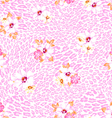 Pink pastel flower on animal vector