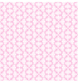 White retro seamless pattern on pink background vector