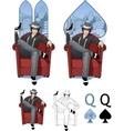 Queen of spades mafia card set vector