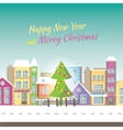 Happy new year greeting card -banner with small vector