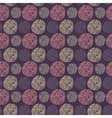 Seamless pattern with round doodle elements vector