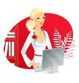 Office woman vector