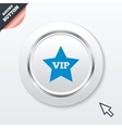 Vip sign icon membership symbol vector