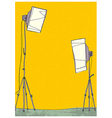 Light stands background vector