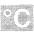 Celsius freehand symbol vector