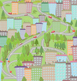 Seamless texture with cityscape spring vector