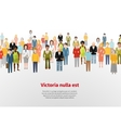 Large group of cartoon people background vector
