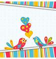 Template greeting card scrap vector
