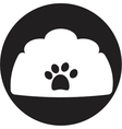 Dog bowl icon vector
