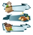 Sweets paper banners vector