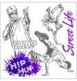 Hip hop dancer on white background vector