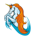 Fantasy unicorn horse vector
