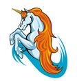 Fantasy unicorn horse vector