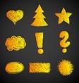 Doodle symbols vector