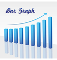 Bar graph on the rise on white background vector