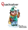 Alphabet professions owl letter q - quacksalver vector