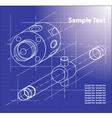 Technical blueprint vector