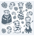 Monster sketches vector