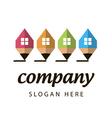 Stylized logo construction company vector