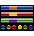 Site bars and buttons vector