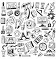Art tools school - doodles set vector