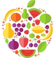 Apple fruit icons vector