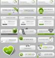 Web design template elements vector