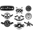 Set of vintage label collection 4 vector