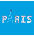 Paris letter card1 vector