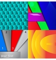 Collection of abstract multicolored backgrounds vector