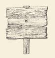 Wood signboard wooden sign vintage vector