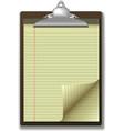 Clipboard corner paper page vector