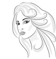 Beauty girl sketch vector