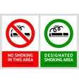No smoking and smoking area labels - set 11 vector