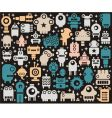 Robots monsters background vector