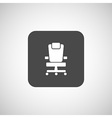 Office chair icon business seat shape vector