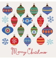 Baubles christmas card vector