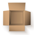 Package box opened top view vector