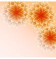 Beautiful wallpaper with orange flowers vector